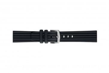 Morellato klockarmband Brenta U4025187019ST26 / PMU019BRENTA26 Gummi / plast Svart 26mm
