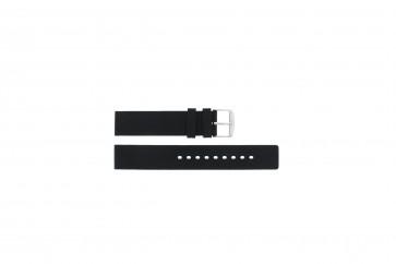 Klockarmband Universell 6826.20 / 21901.10.20 Gummi Svart 20mm