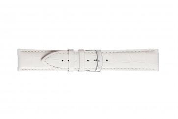 Morellato klockarmband Extra X3395656017CR28 / PMX017EXTRA28 Krokodil läder Vit 28mm + default sömmar