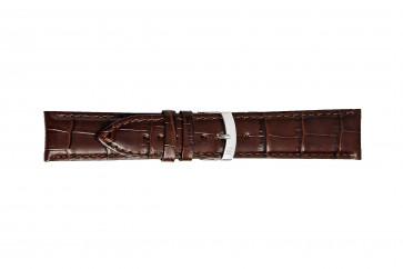 Morellato klockarmband Extra X3395656032CR28 / PMX032EXTRA28 Krokodil läder Mörk brun 28mm + default sömmar