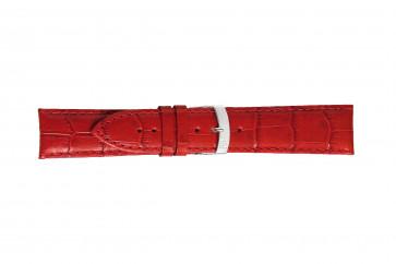 Morellato klockarmband Extra X3395656083CR26 / PMX083EXTRA26 Krokodil läder Röd 26mm + default sömmar
