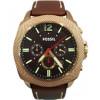 Klockarmband Fossil BQ2032 Läder Brun 24mm