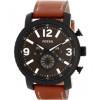 Klockarmband Fossil BQ2052 Läder Brun 24mm