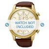 Klockarmband Seiko 7T62-0LJ0 / SNAF72P1 / L0BB012K0 Krokodil läder Brun 22mm