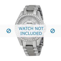 Fossil klockarmband ES3202 Push pin  Metall Ilverfärgad 18mm