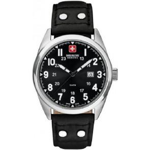 Klockarmband Swiss Military Hanowa 06-4181.04.007 Läder Svart 22mm