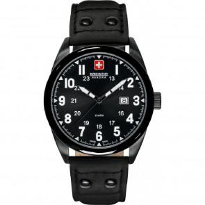 Klockarmband Swiss Military Hanowa 06-4181.13.007 Läder Svart 22mm