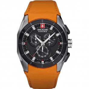 Klockarmband Swiss Military Hanowa 06-4191.33.007.79 Läder Apelsin