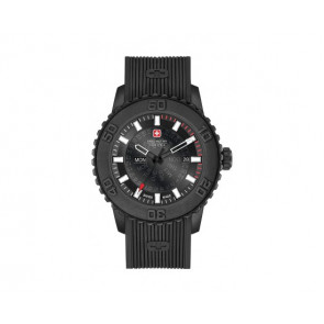 Klockarmband Swiss Military Hanowa 6-4281.27.007 Twilight Silikon Svart