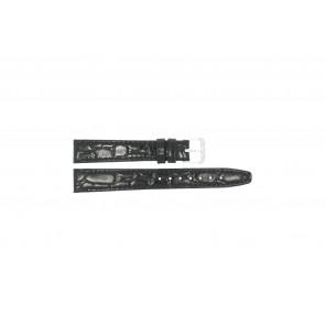 Läder Klockarmband krokodilmönstrat lack 10mm 082
