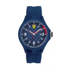 Ferrari klockarmband SF101.4 / 0830067 / SF689300097 / Scuderia Gummi Blå 22mm