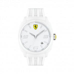 Ferrari klockarmband SF113.1 / 0830113 / SF689300066 / Scuderia Gummi Vit 24mm