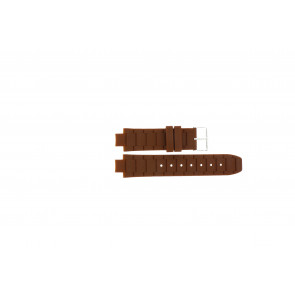 Jacques Lemans klockarmband 1-1696 / BK-2892 Silikon Brun 12mm