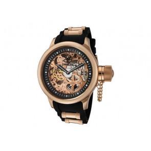 Klockarmband Invicta 1090.01 / 10136.01 / 17267.01 Gummi Svart