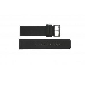 Klockarmband Obaku 116-Z Läder Svart 24mm