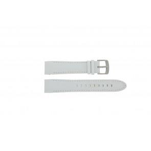 Police klockarmband 12898JS-02A Läder Vit 22mm + sömmar vitt