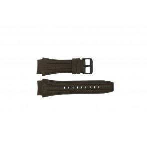 Police klockarmband 13891JSB-12 Läder Brun 24mm + sömmar brun