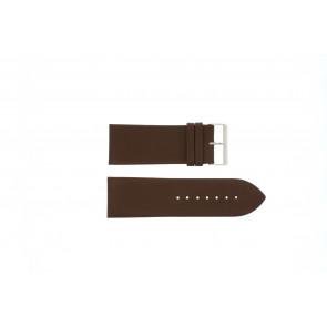 Klockarmband Universell Pebro 169-30 Läder Brun 30mm