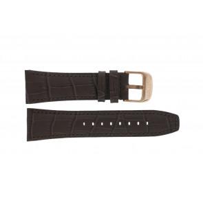 Lotus klockarmband 18015 Läder Brun 26mm + sömmar brun