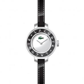 Lacoste klockarmband LC-15-3-14-0084 / 2000391 Läder Svart 6mm + sömmar svart