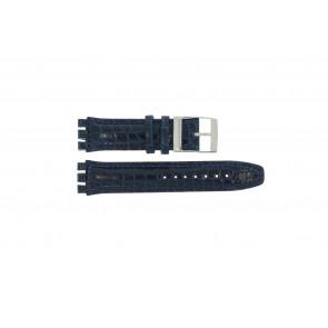 Klockarmband Swatch 247.11M Läder Blå 20mm