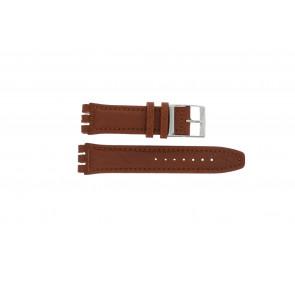 Klockarmband Swatch 247.02PL Läder Brun 20mm
