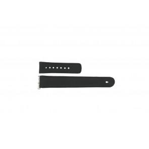 Junghans klockarmband 26-001 / 0006 (LA-241) Läder Svart 21mm + default sömmar