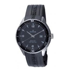 Klockarmband Edox 267961 / 70158 Gummi Svart 22mm