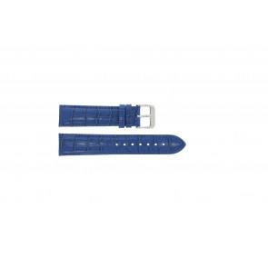 Klockarmband Universell 285R.05 Läder Blå 20mm