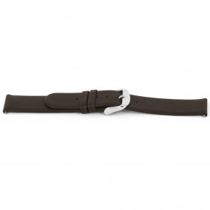 Klockarmband Universell D300 Mjukt läder Brun 14mm