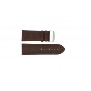 Klockarmband i skinn Buffekalv brun rem 32mm 305