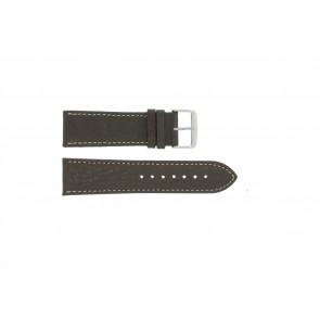 Klockarmband 307.02 XL Läder Brun 24mm + sömmar vitt