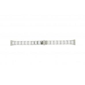 Boccia klockarmband 3261-01 Stål/Silikon Ilverfärgad 16mm