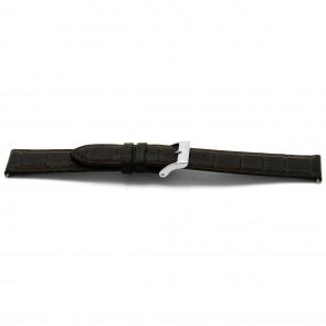 Klockarmband Läder mörbrunt 12mm EX-C332