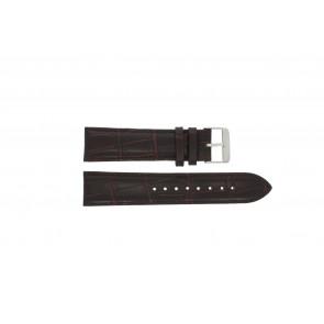 Prisma klockarmband 33C631012 Läder Brun 22mm + sömmar brun