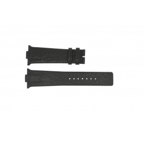 Klockarmband Boccia 3519-02 / 3519-03 Läder Svart 28mm