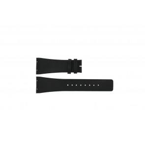 Boccia klockarmband 3541-02 Läder Svart 20mm