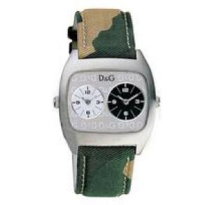 Dolce & Gabbana klockarmband 3719240255 Läder/Textil Grön 22mm + sömmar beige