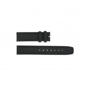 Boccia klockarmband 3771-01 Läder Svart 20mm + default sömmar