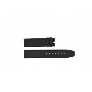 Boccia klockarmband 3780-01 Läder Svart 20mm + default sömmar