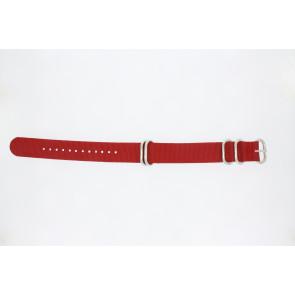 Klockarmband 409.06.20 Textil Röd 20mm