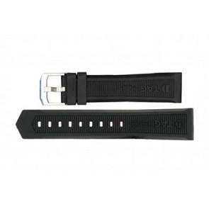Klockarmband Tag Heuer WAH1010 / CAH1012 / BT0717 Gummi Svart 22mm