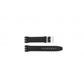 Klockarmband Swatch (alt.) 51643.01.17 Läder Svart 17mm
