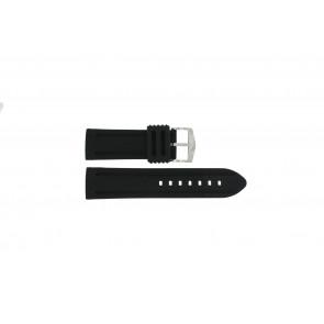 Klockarmband 5809 Silikon Svart 26mm