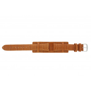 Klockarmband 61325.75.18 Läder Apelsin 18mm + sömmar orange