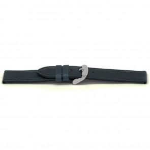 Klockarmband Läder blått 16mm EX-E629