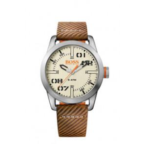Klockarmband Hugo Boss HB-291-1-14-2938 / 659302741 Läder Brun 22mm