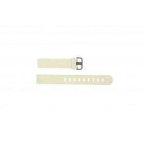 Jacob Jensen klockarmband 700 Serie Gummi Vit 17mm