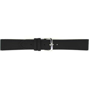 Klockarmband 823.01.10 Läder Svart 10mm + sömmar svart