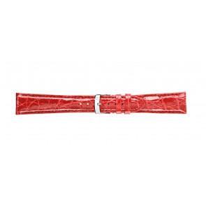 Morellato klockarmband Amadeus G.Croc Glans U0518052083CR22 / PMU083AMADEC22 Krokodilskinn Röd 22mm + default sömmar